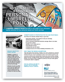 personal umbrella policy insured brochure