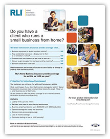 home business insurance agent brochure