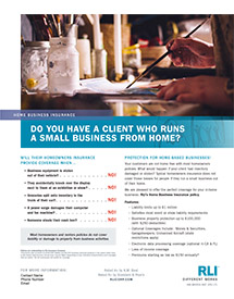 home business insurance artist agent brochure