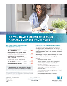 home business insurance generic agent brochure