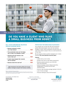 home business insurance juggler agent brochure