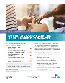home business insurance stylist agent brochure
