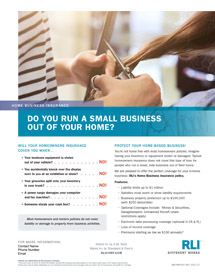 home business insurance stylist consumer brochure