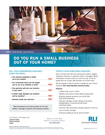 home business insurance artist consumer brochure