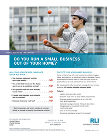 home business insurance juggler consumer brochure